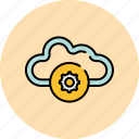 cloud, communication, guardar, preferences, save, settings, share icon