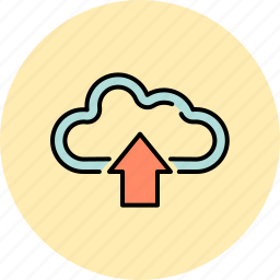 arrow, cloud, communication, guardar, save, share, up, upload icon