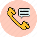 call, communication, message, phone, voicemail, chat