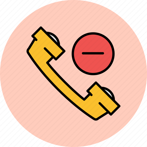 communication, contact, delete, number, phone, remove icon