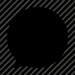 bubble, chat, circle, communication, conversation icon
