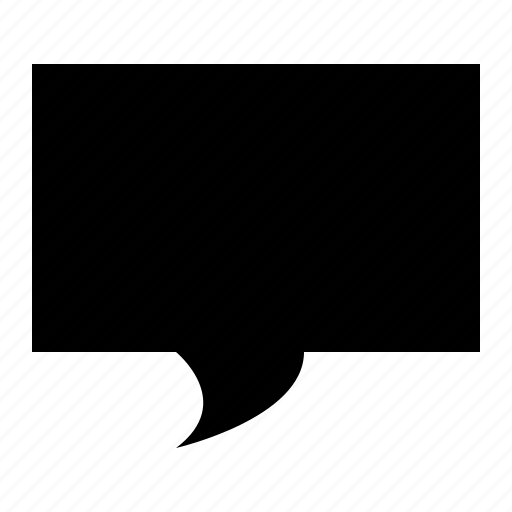 bubble, chat, communication, conversation, rectangle icon