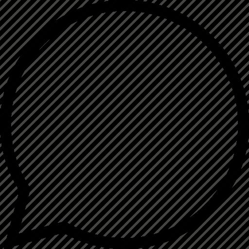 bubble, chat, plain, social icon