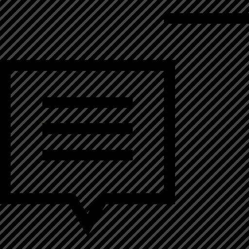 box, chat, minus, remove, social icon