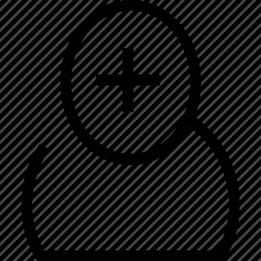 add, avatar, plus, profile, user icon