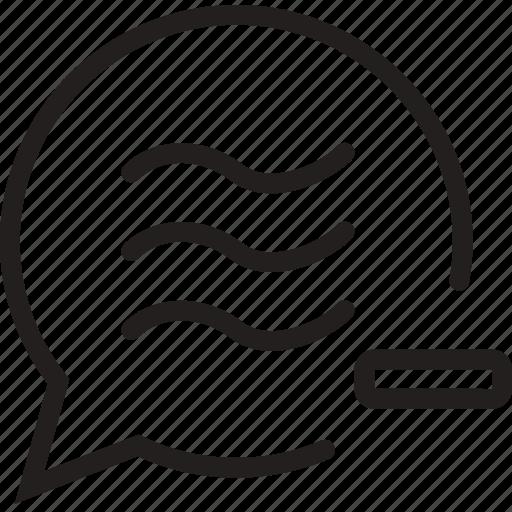 bubble, chat, minus, remove, social icon