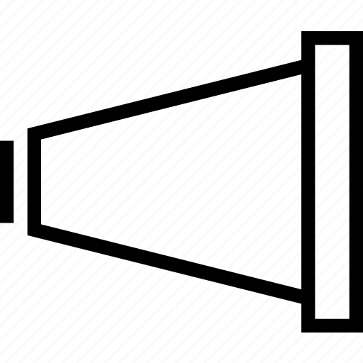 announcement, cone, megaphone icon
