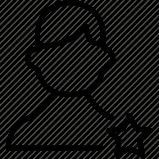 avatar, favorite, man, star, user icon