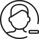 circle, man, minus, remove, avatar, profile, delete icon