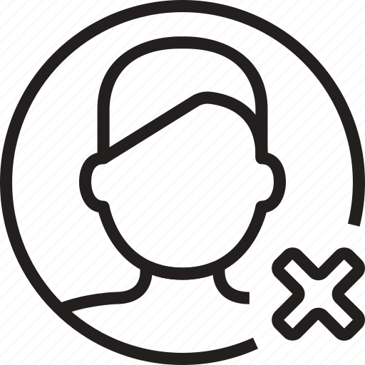 avatar, cancel, circle, man, remove icon