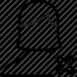 avatar, cancel, female, remove, user icon