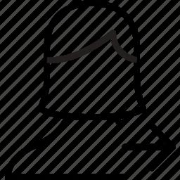 arrow, avatar, female, right, user icon