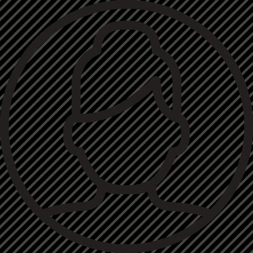 avatar, circle, woman icon