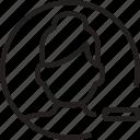 avatar, circle, minus, remove, woman icon