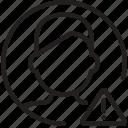 exclamation, circle, avatar, man, profile, settings, error icon