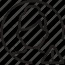 avatar, circle, exclamation, woman, error, problem, profile