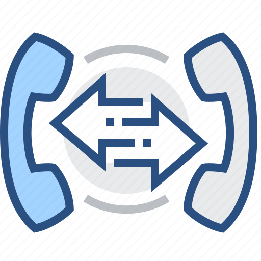 arrow, call, communication, diversion, interaction, phone icon