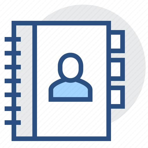 book, communication, contact, contacts, phone, user icon