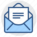document, e-mail, envelope, letter, mail, message, paper icon