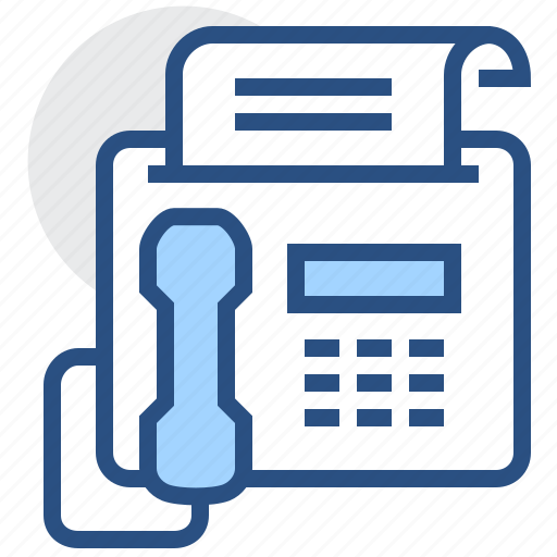 document, fax, file, message, paper, phone icon