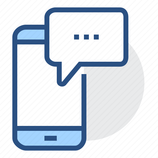 bubble, communication, message, mobile, phone, smartphone icon