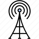 communication, radio, signal, television, tower icon