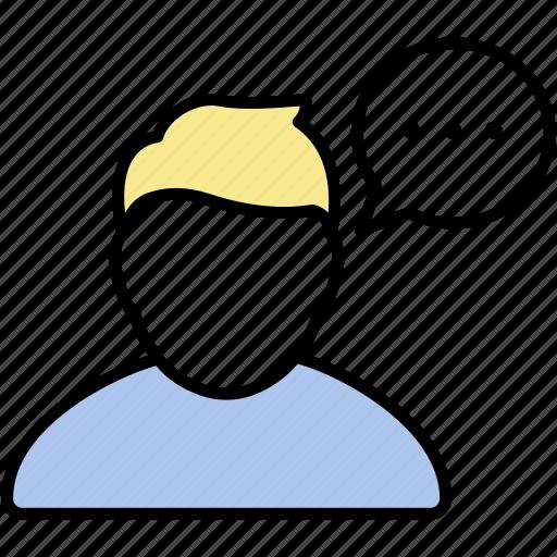comment, male, man, person, profile, user icon