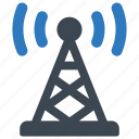 communication, radio, television, tower icon