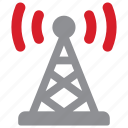 communication, signal, tower, transmission icon