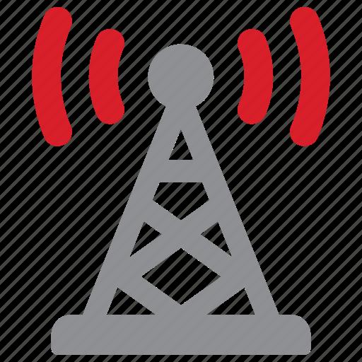 communication, signal, tower, transmission icon