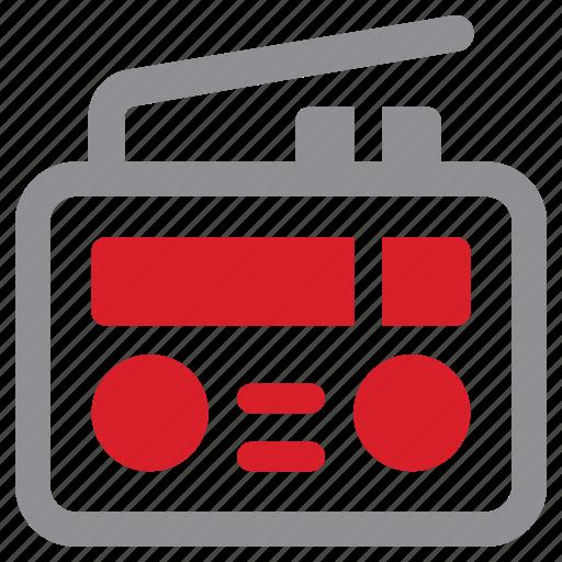 media, radio, station, technology icon
