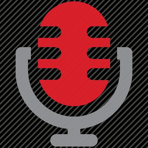 audio, microphone, record, speech, voice icon