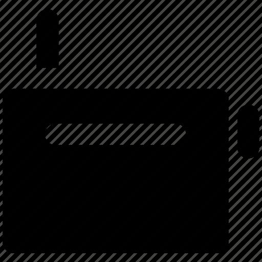 audio device, entertainment, radio, tape, wireless transmission icon
