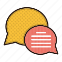 bubbles, chat, communication, contact us icon