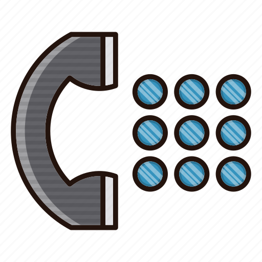 communication, contact us, grid, phone icon