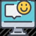 communication, computer, message, speech bubble, talk icon