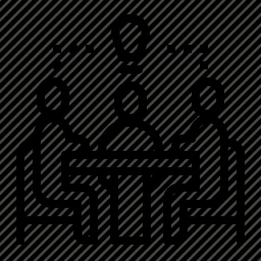Meeting, sharing, sitting, talking, trading icon - Download on Iconfinder