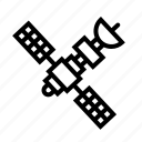 communication, electronics, satellite, space, transportation icon