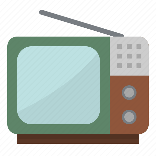 antenna, electronics, screen, television, tv, vintage icon