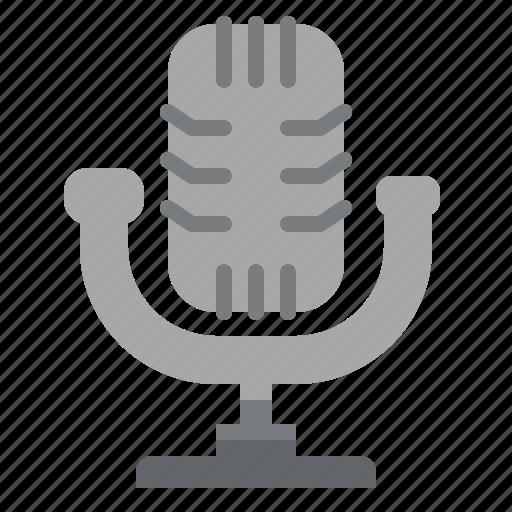 microphone, radio, sound, technology, vintage icon