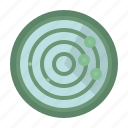 area, communications, electronics, place, radar, signaling icon
