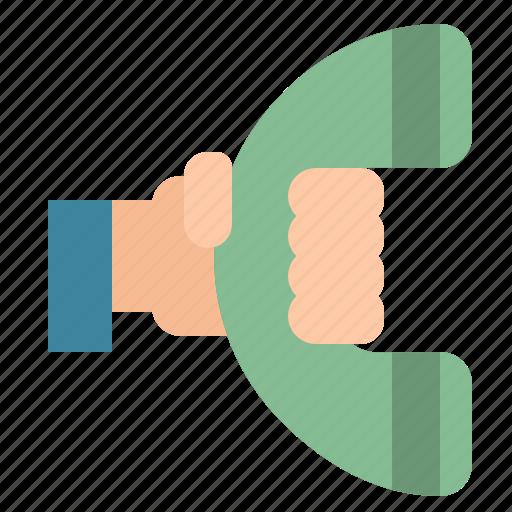 circular, interface, phone, symbols, telephone icon