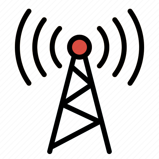 Mobile, signal, communications, antennas, tower, technology icon