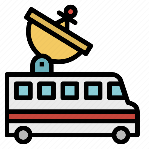 Antenna, automobile, communications, parabolic0a, transport, vehicle icon - Download on Iconfinder