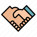 agreement, business, cooperation, hands, handshake, shake icon