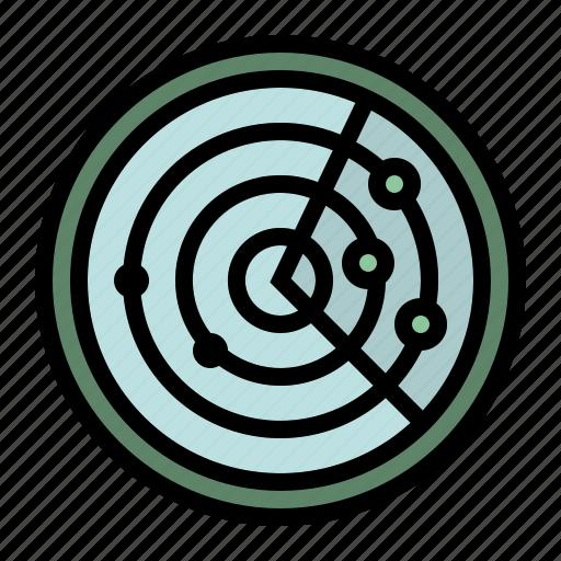 area, communications, electronics, place, radar, signaling icon