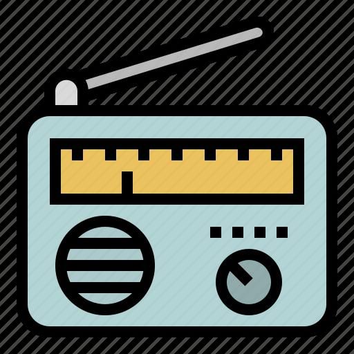 antenna, communications, news, radio, radios, transistor icon