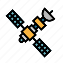 communication, electronics, satellite, space, transportation icon