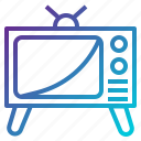 television, monitor, tv, vintage, electronics, transport icon