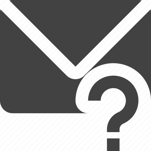 email, mail, question icon